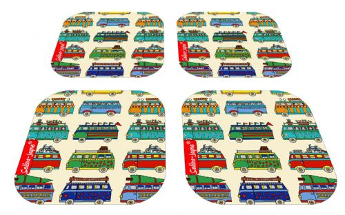 Selina-Jayne Campervan Limited Edition Designer Coaster Gift Set